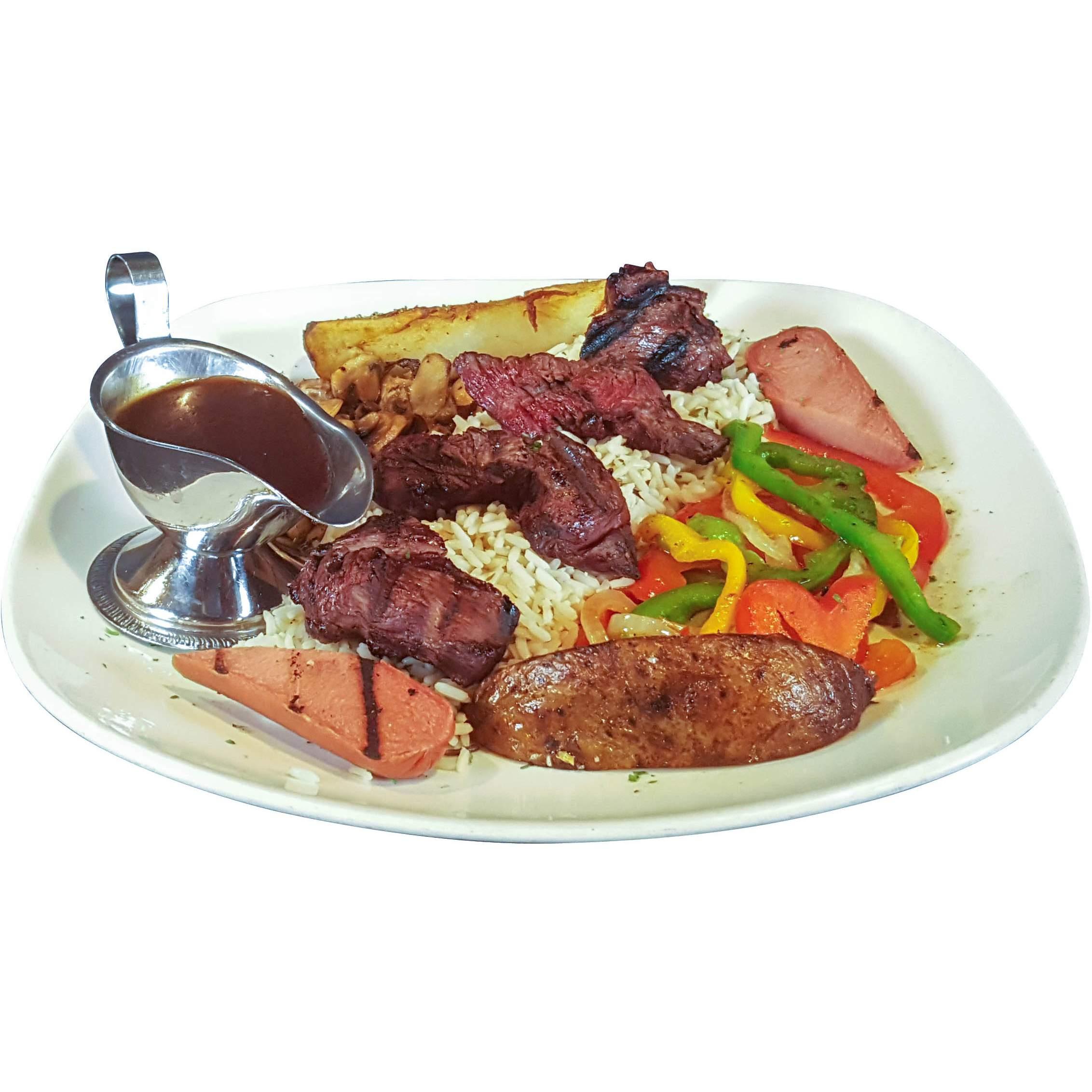 Brochette de filet mignon et sauce au poivre